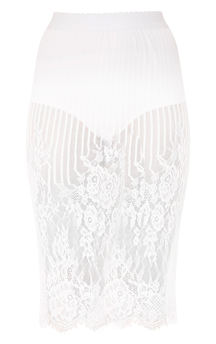 Armonda  Cream Knicker Insert Lace Midi Skirt  3