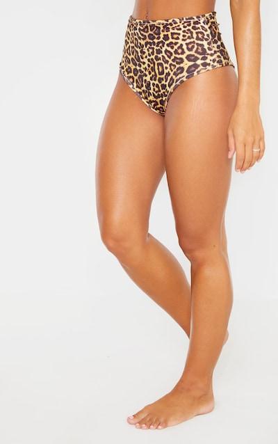 Leopard Mix & Match High Waisted Bikini Bottom