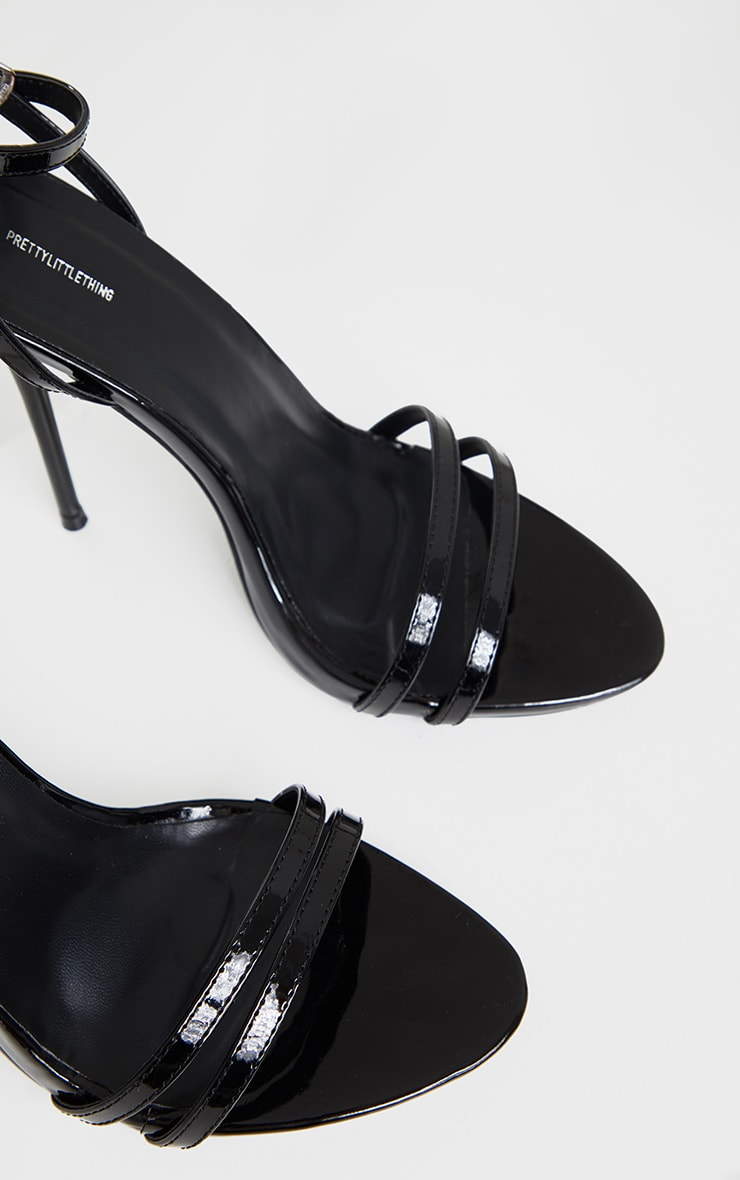 Black Wide Fit High Strappy Sandals 4