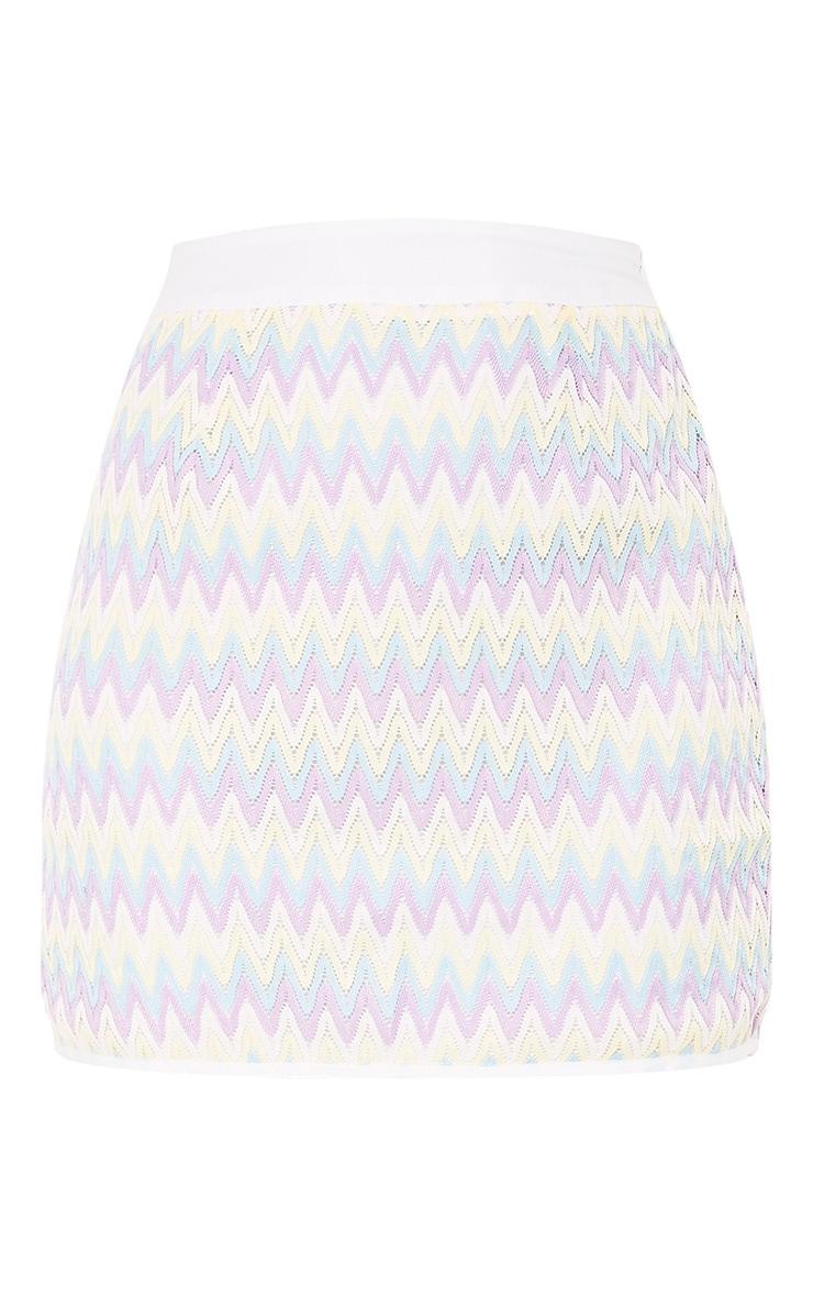 Amette Lilac Chevron Mini Skirt  3