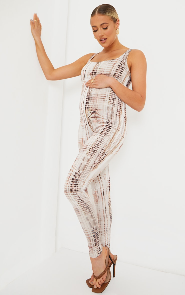 Maternity Stone Textured Print Slinky Jumpsuit 3