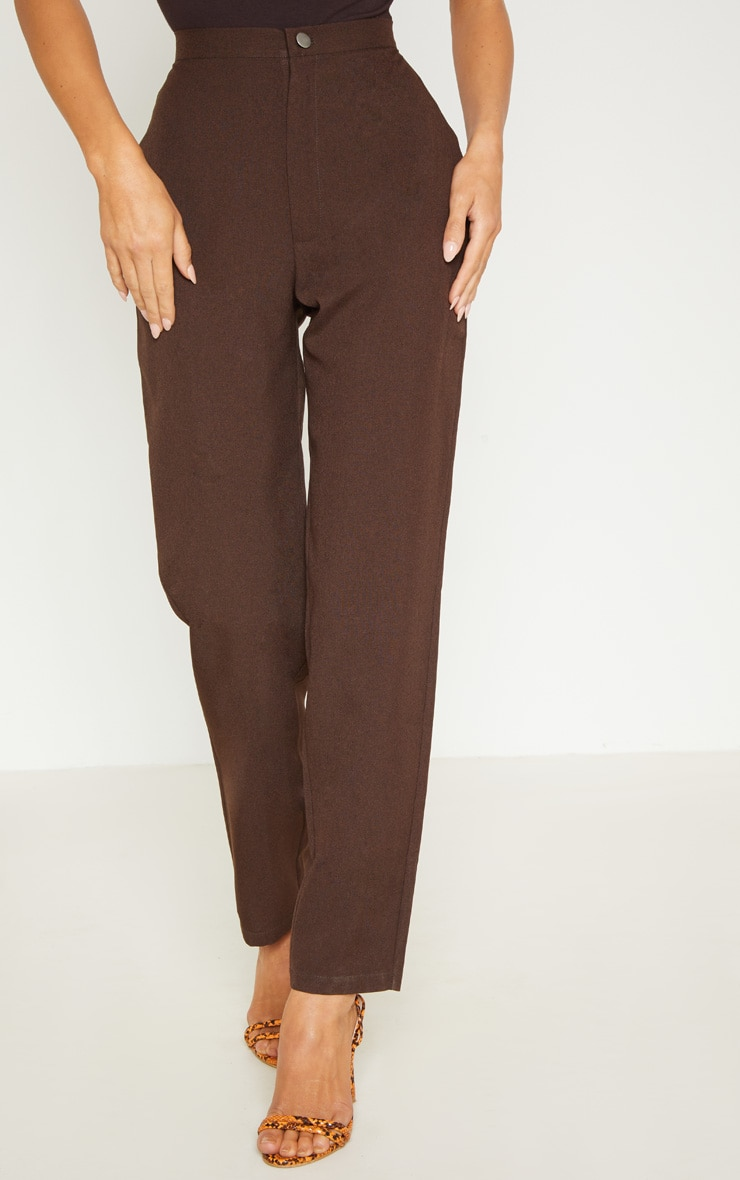 Chocolate High Waisted Slim Leg Pants 3