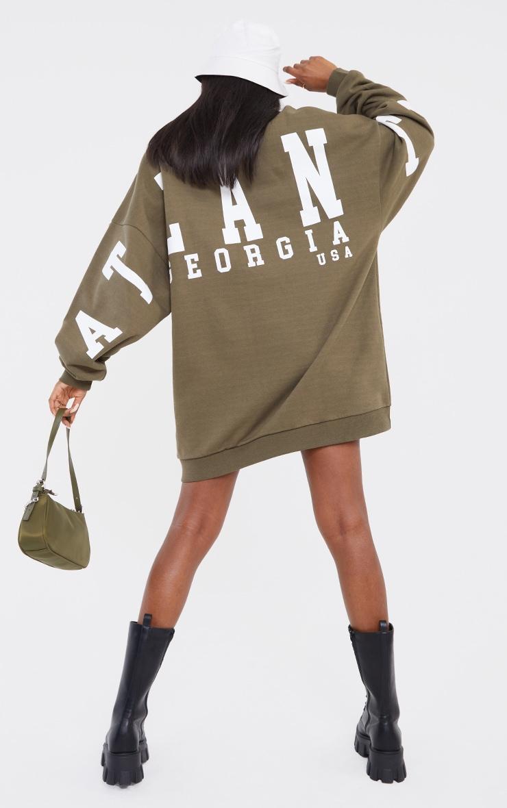 Tall Sage Atlanta Georgia  Slogan Sweatshirt Dress 1