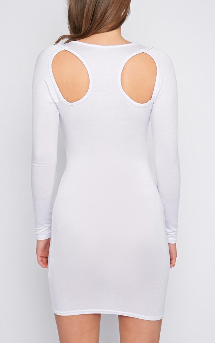 Lexis White Cut Out Mini Dress  2