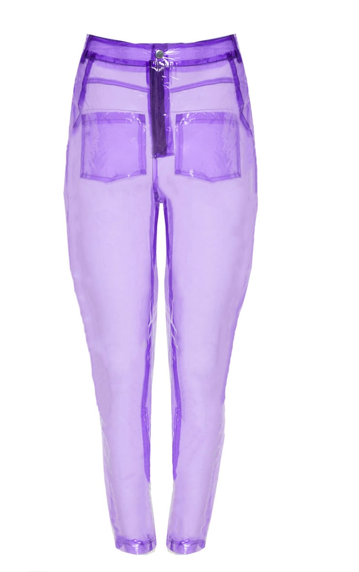 Lilac Transparent Straight Leg Trouser 4