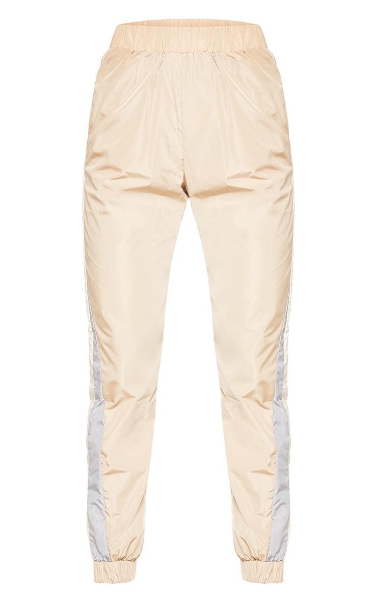 Pantalon de jogging gris pierre à bandes 3