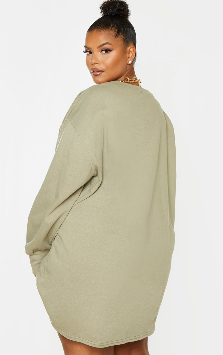 PLT Plus - Robe sweat oversize verte 2