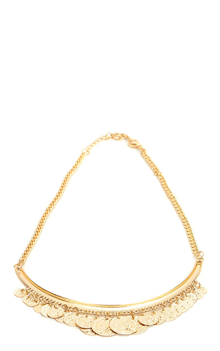 Laura Gold Coin Necklace 2