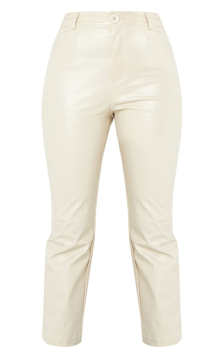 Stone Faux Leather Cropped Pants 5