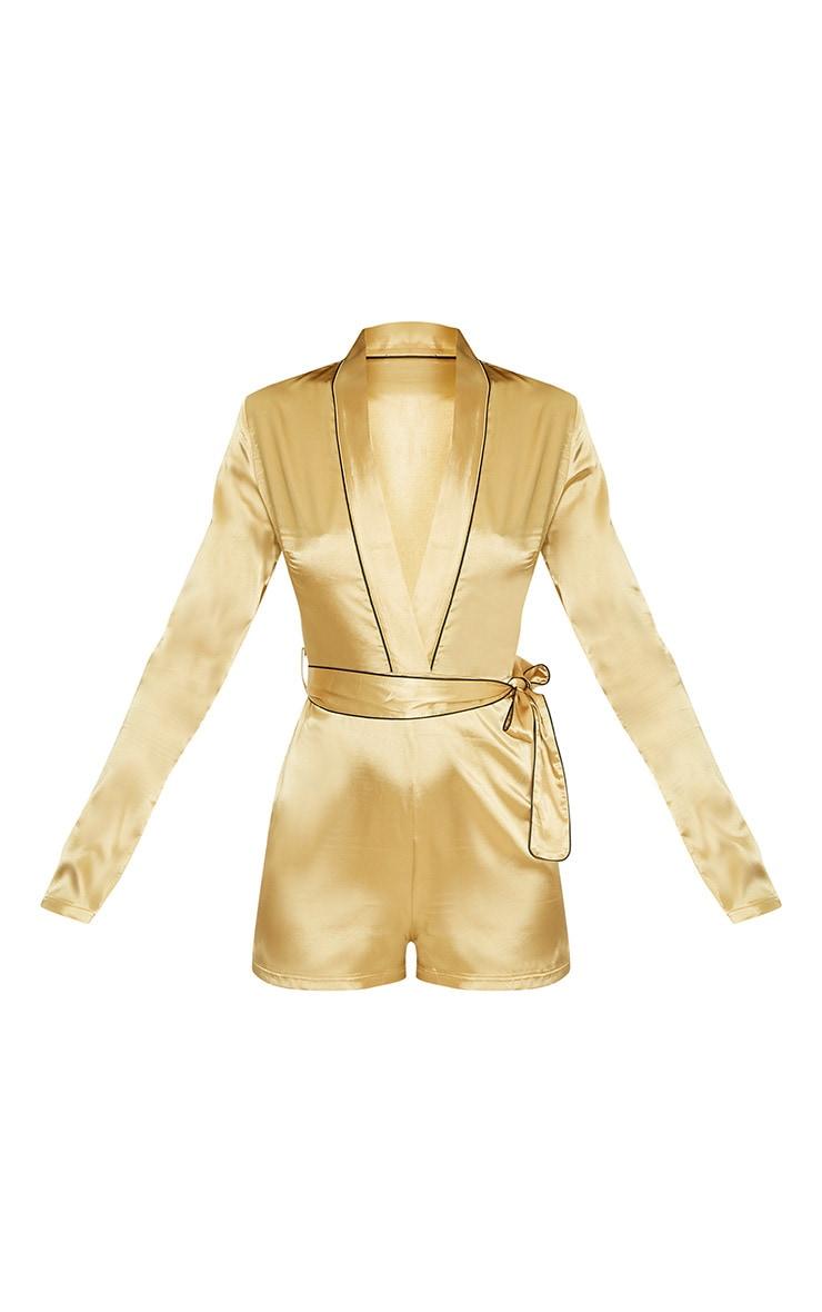 Alisha Gold Pyjama Style Playsuit 3