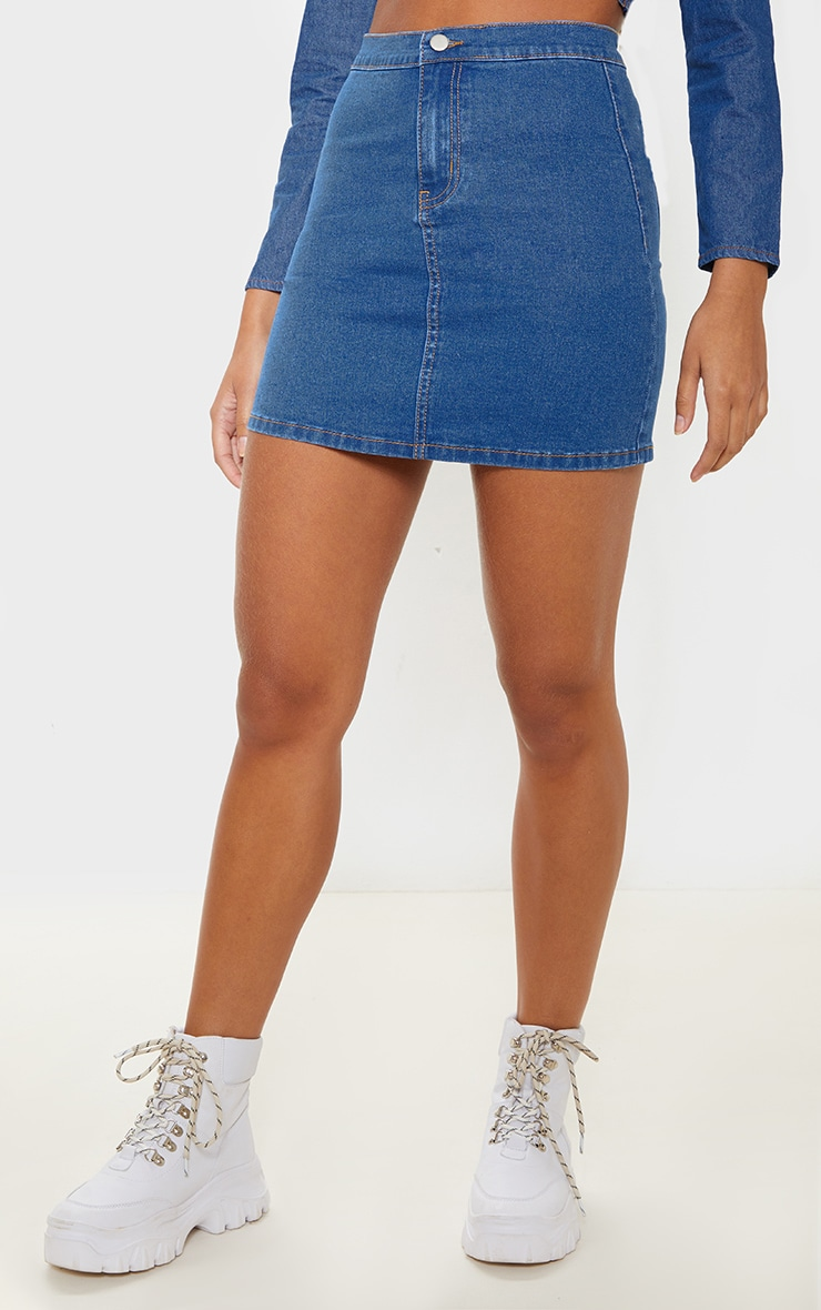 Mid Wash Disco Fit Skirt 2