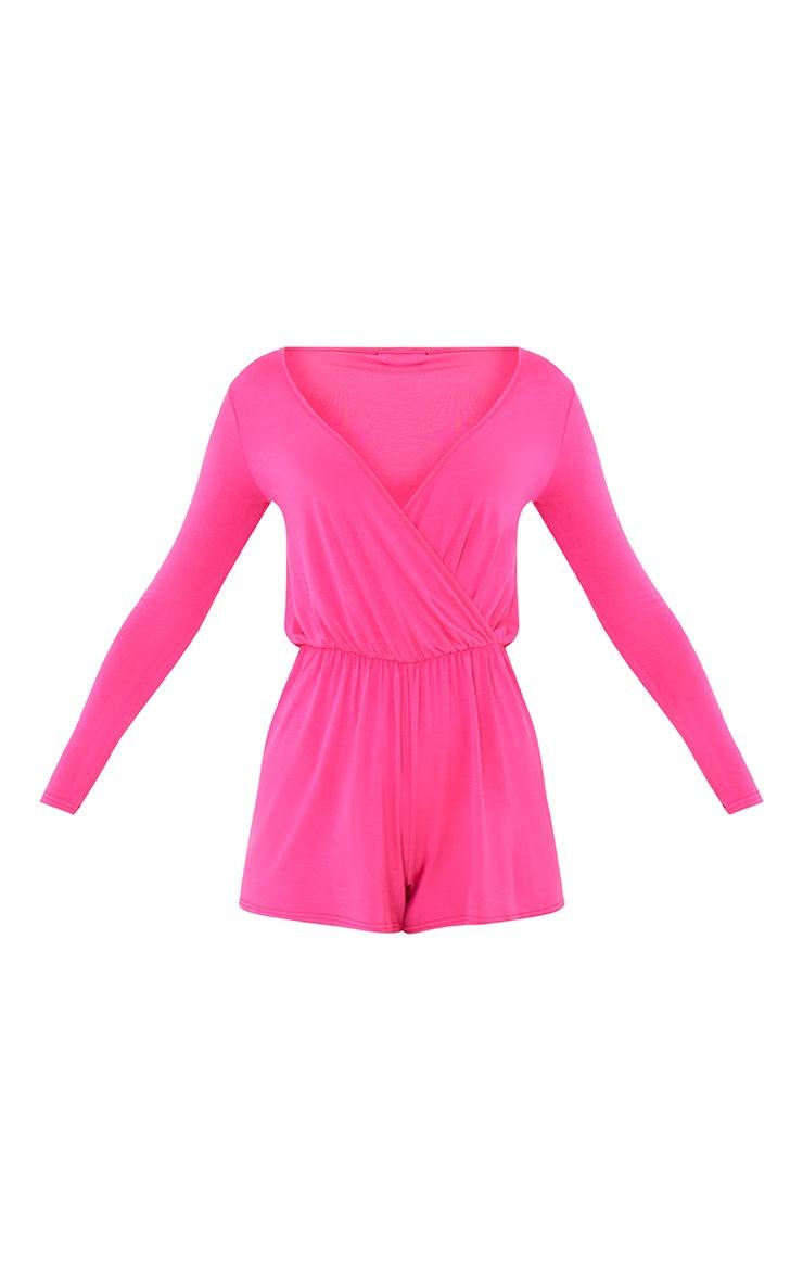 Alishah Hot Pink Basic Playsuit 3