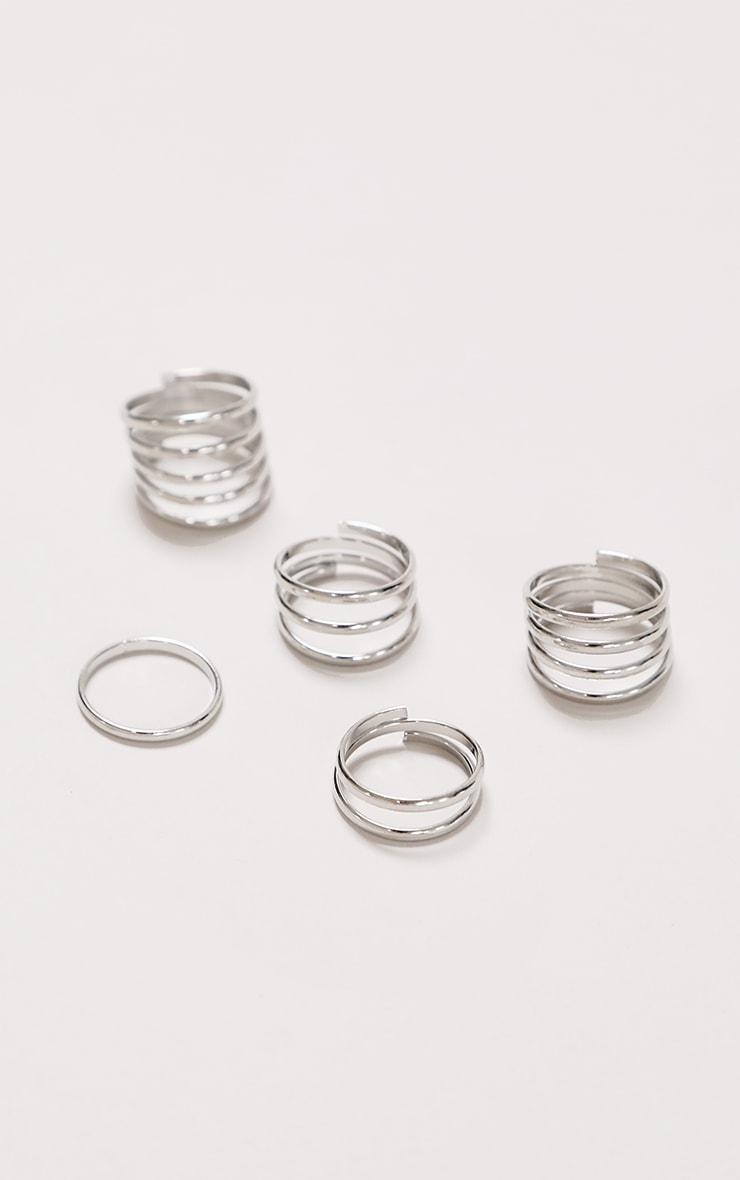 Silver Multi Pack Rings 2