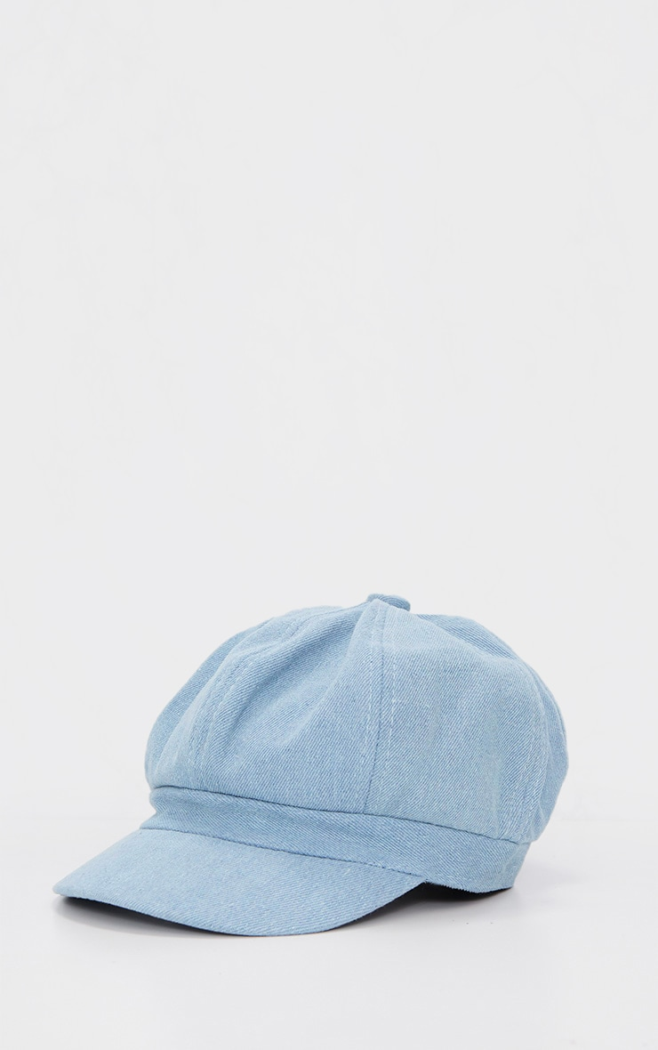 Blue Denim Baker Boy Hat 3