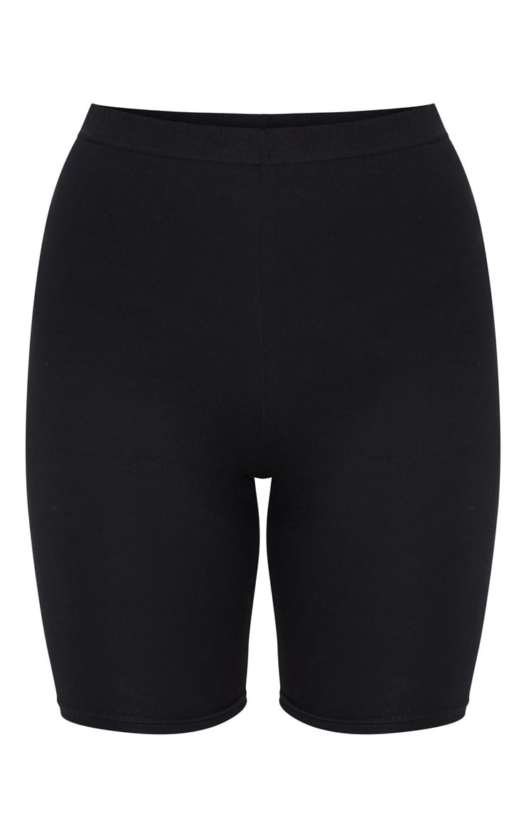 Short-legging noir en coton stretch 6