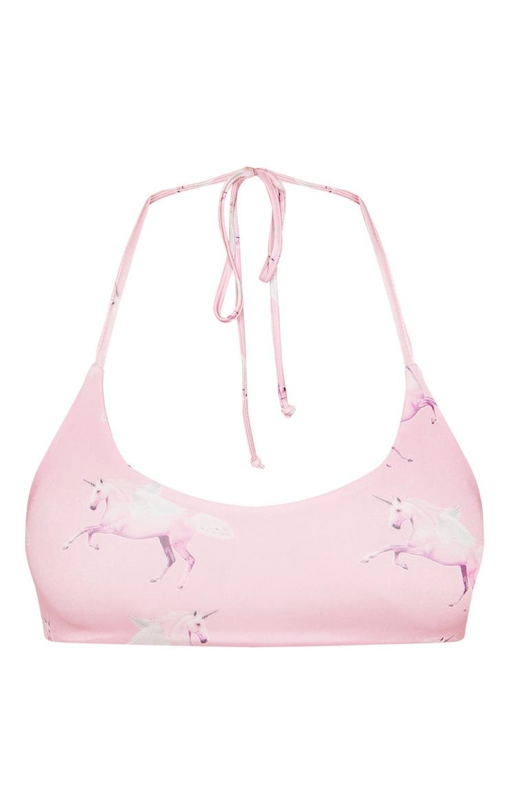 PRETTYLITTLETHING Unicorn Bikini Top 3