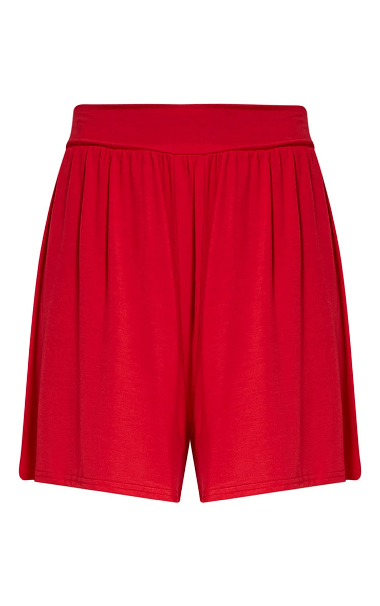 Lucilla Red Jersey Floaty Shorts 3