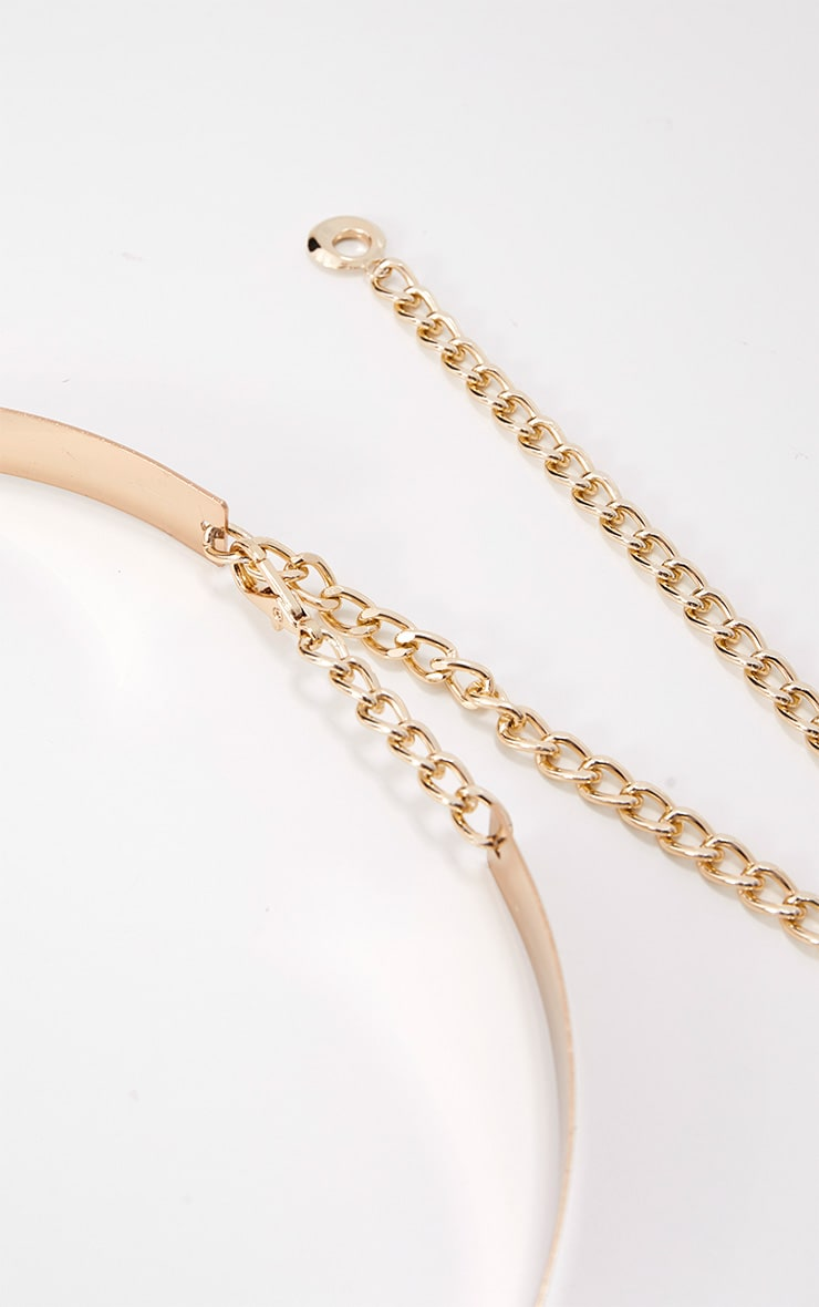 Gold Thin Metal Plated Belt 5