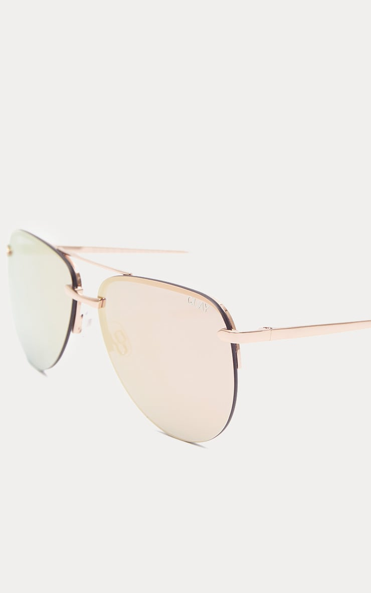 QUAY AUSTRALIA Pink The Playa Aviator Sunglasses 3