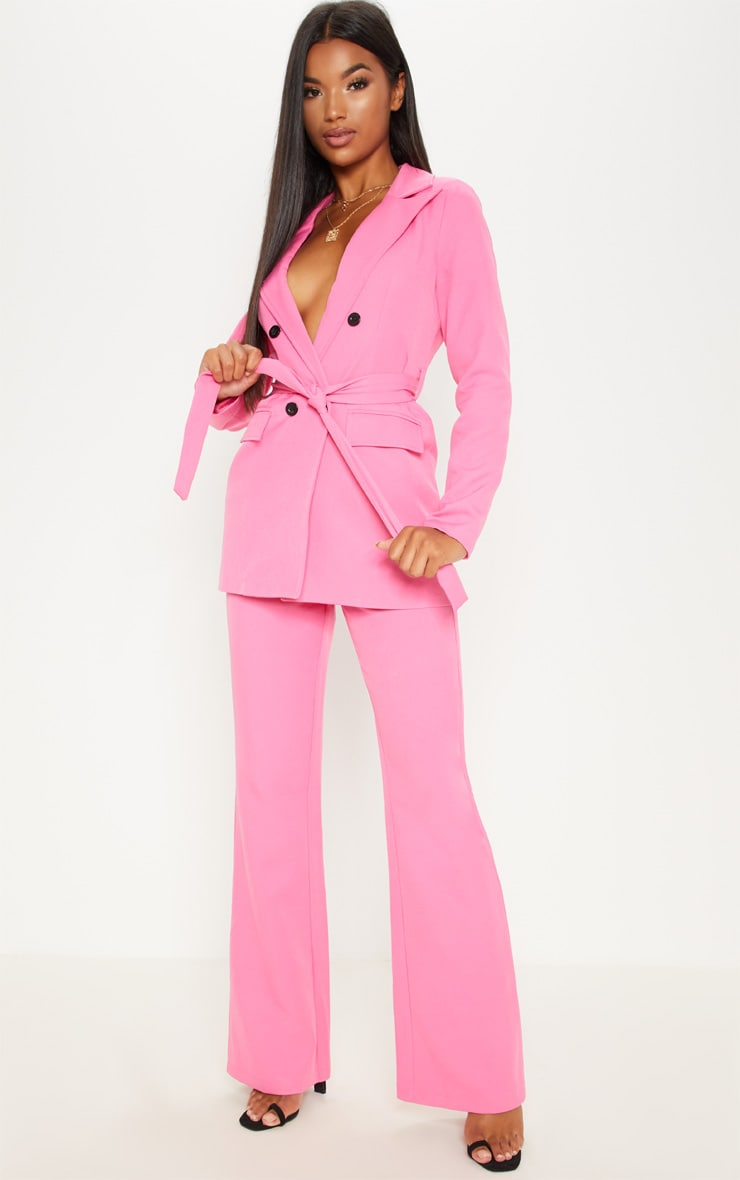 Pink Wide Leg Trousers 1