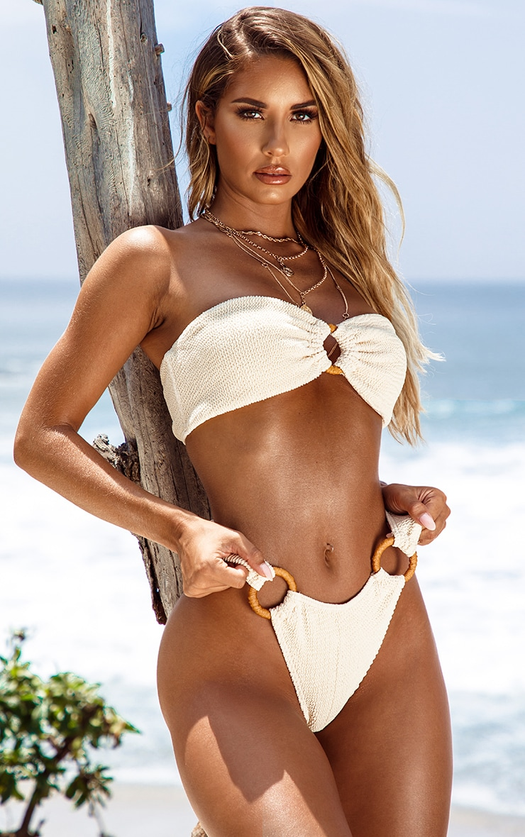 Sand Ring Detail Crinkle Bikini Bottom