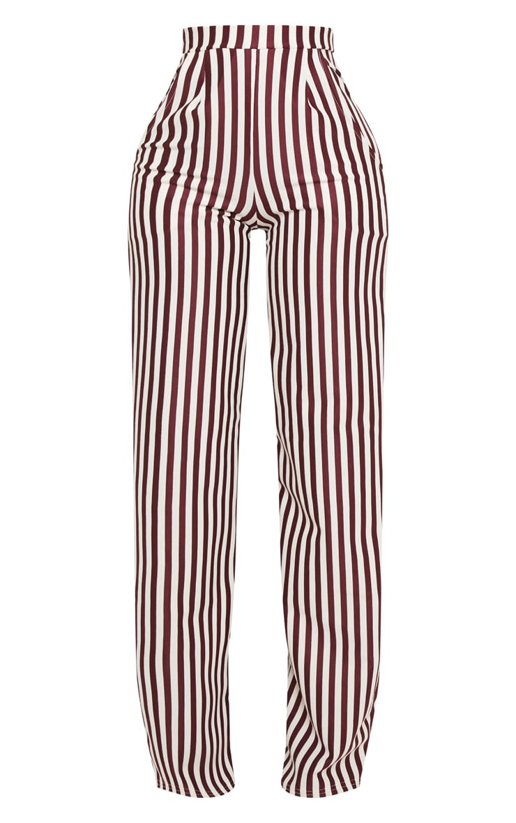 Shape Burgundy Wide Leg Pants  3