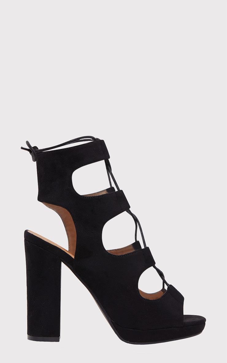 Carlia Black Platform Gladiator Heels 2