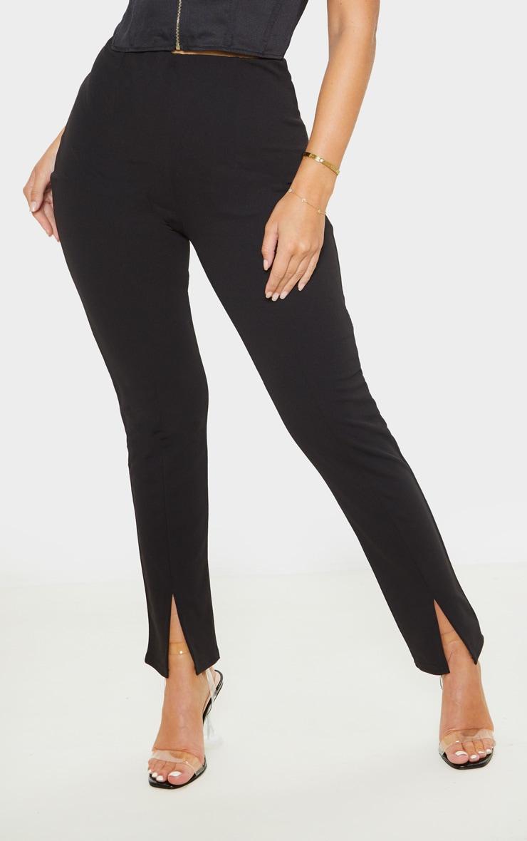 Black Split Hem Front Pants 2