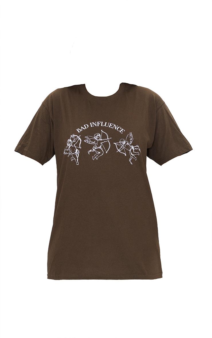 Chocolate Bad Influence Printed T Shirt 5