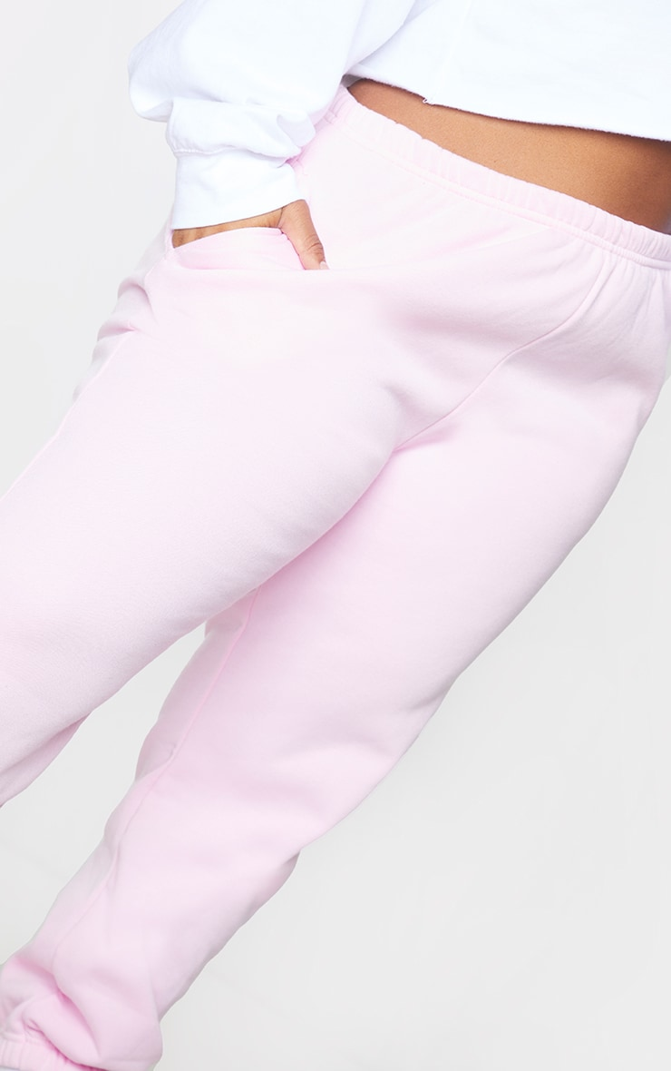 Plus Baby Pink Casual Joggers 4