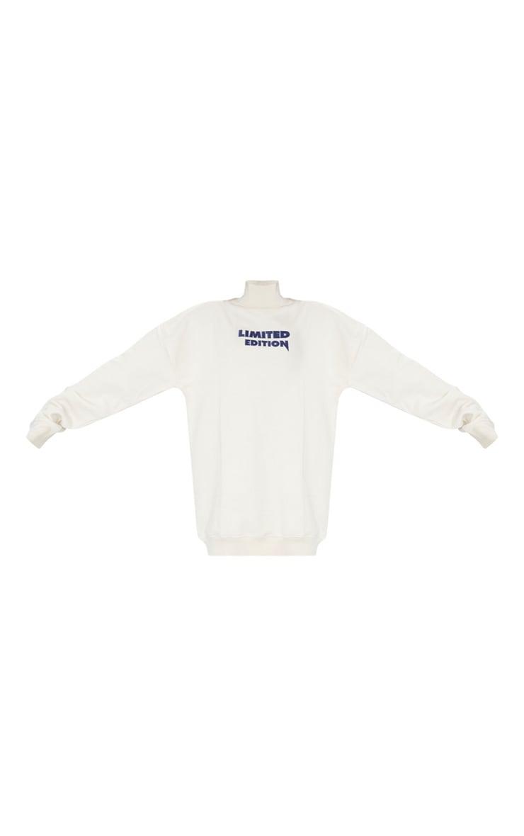 Oatmeal Limited Edition High Neck Oversized Sweatshirt Dress 5