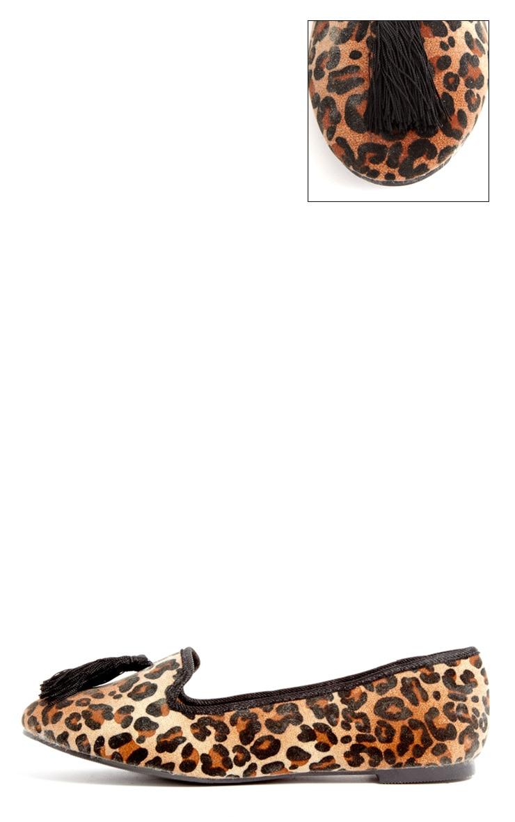 Alys Leopard Tassel Slipper  1