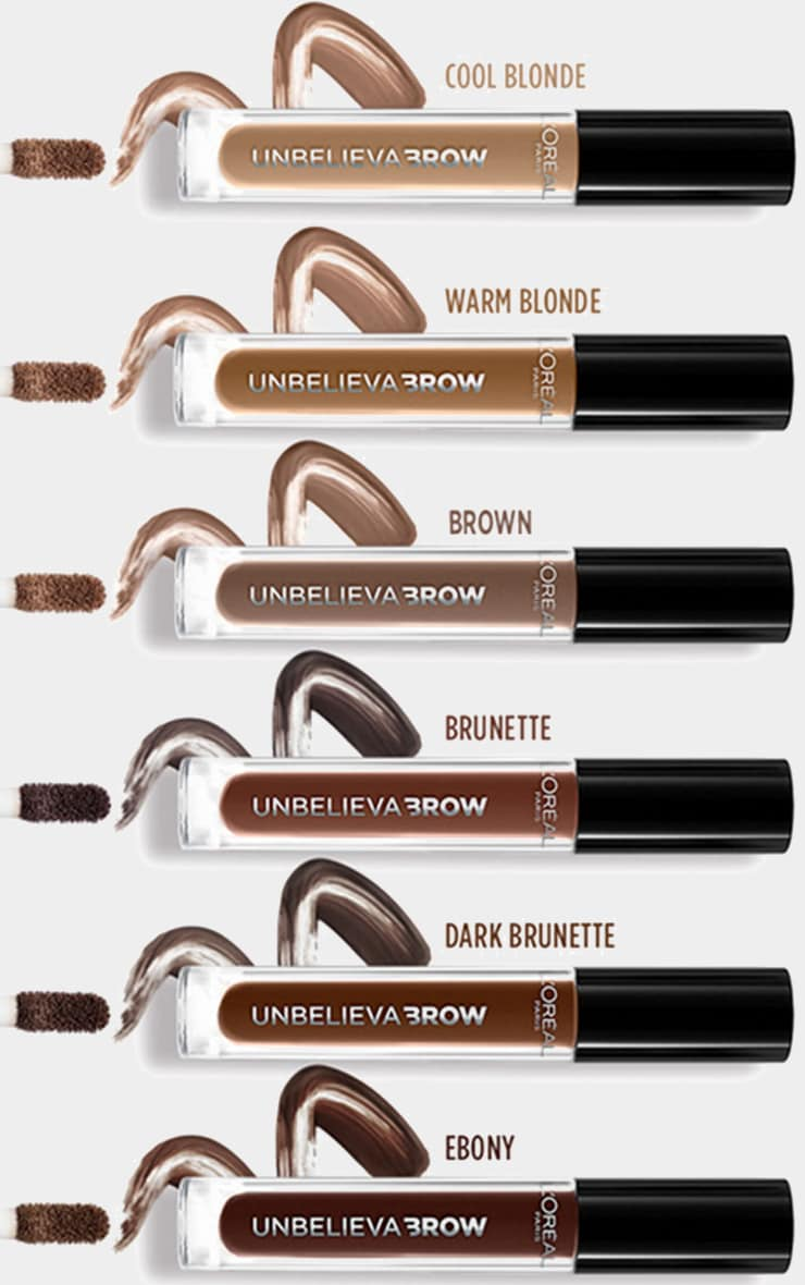 L'Oreal Paris Unbelieva'brow Long-Lasting Brow Gel 109 Ebony 5
