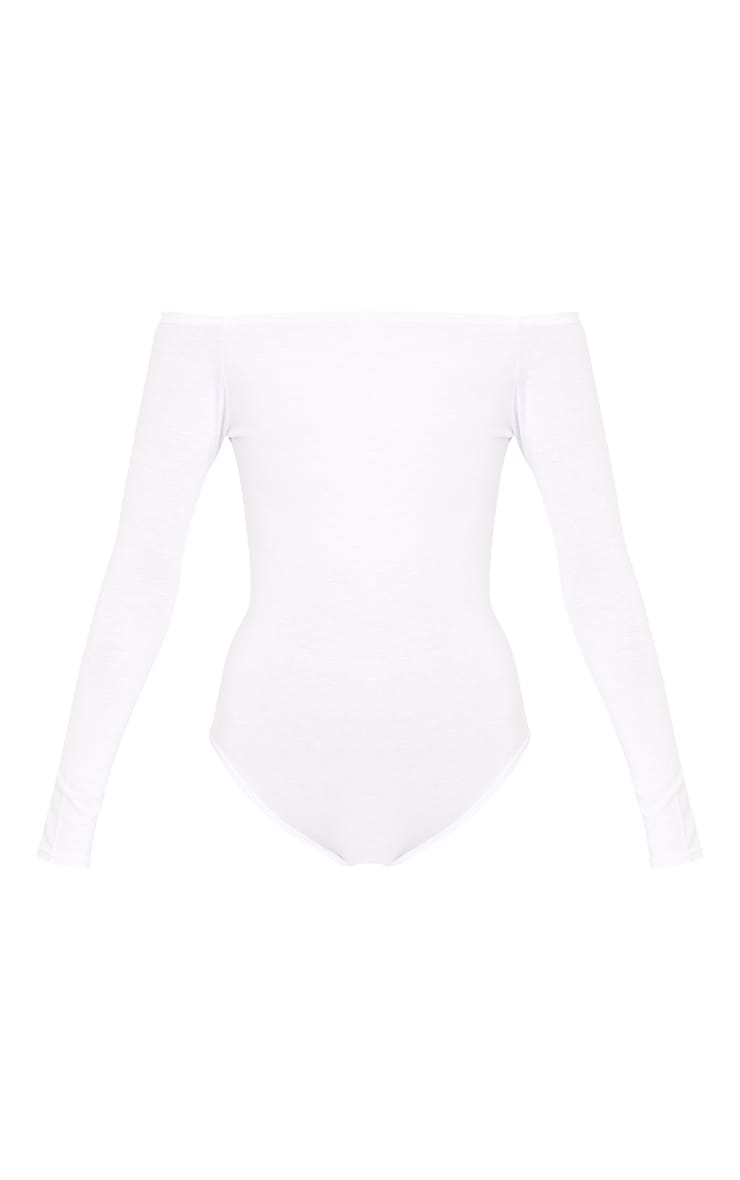 Basic Black & White Bardot Bodysuit 2 Pack  8
