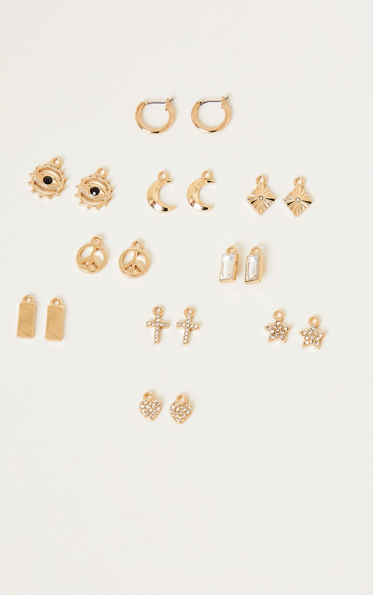 Gold Diamante Assorted Mix and Match Hoop Pack 2