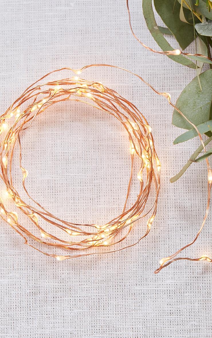 Rose Gold Led String Table Lights image 1