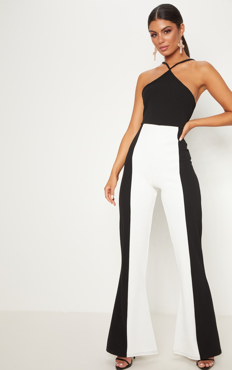 Monochrome Colour Block Jumpsuit 1