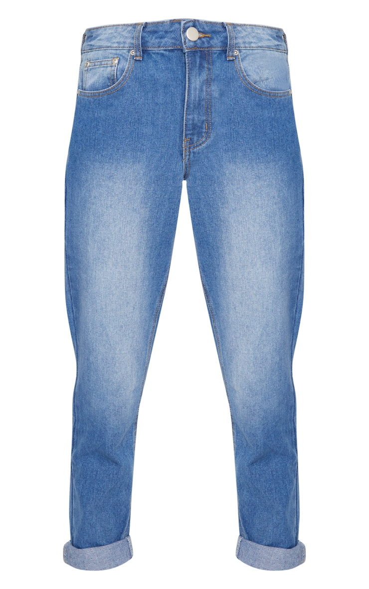 Mid Wash Mom Jeans 3