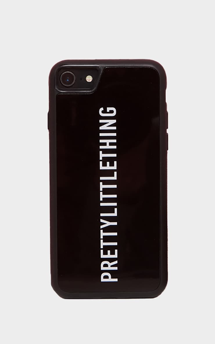 PRETTYLITTLETHING Black Logo 7 iPhone Case  2