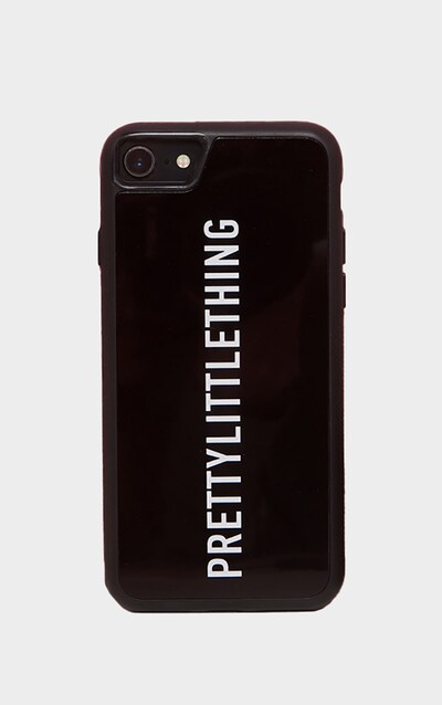 PRETTYLITTLETHING Black Logo 7 iPhone Case