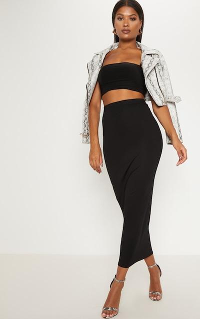 Black Basic Maxi Skirt