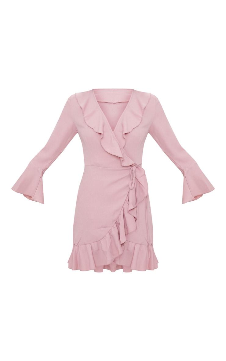 Ilisha Dusty Pink Frill Tea Dress  3