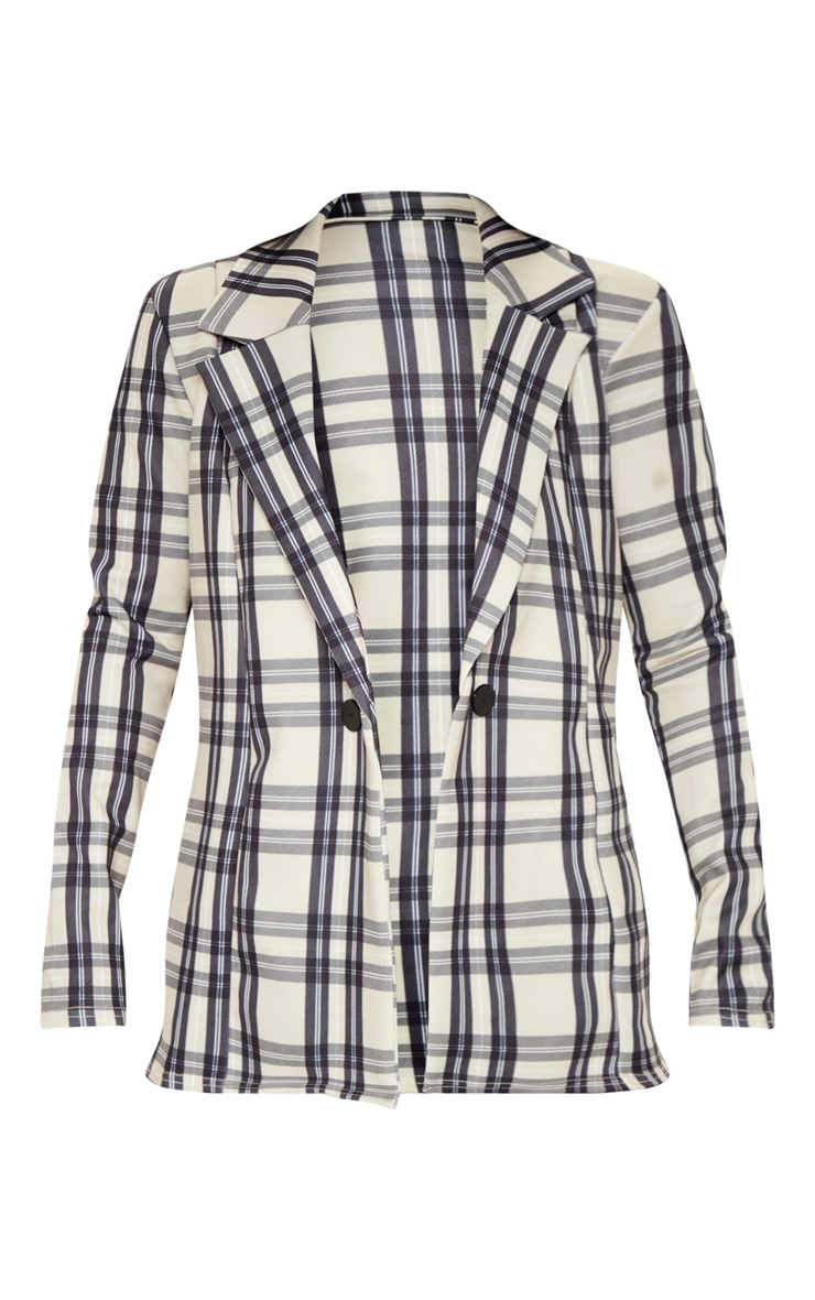 Stone Checked Boyfriend Blazer 3