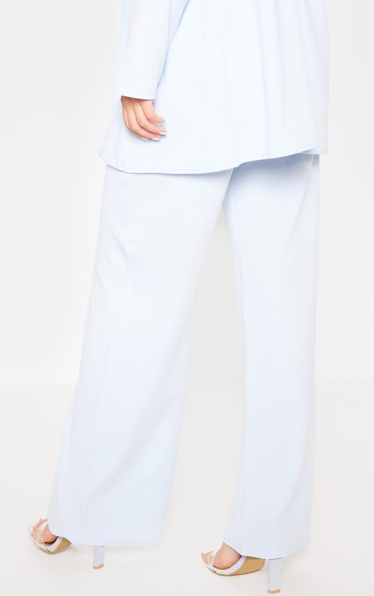 Baby Blue Wide Leg Suit Pants 4