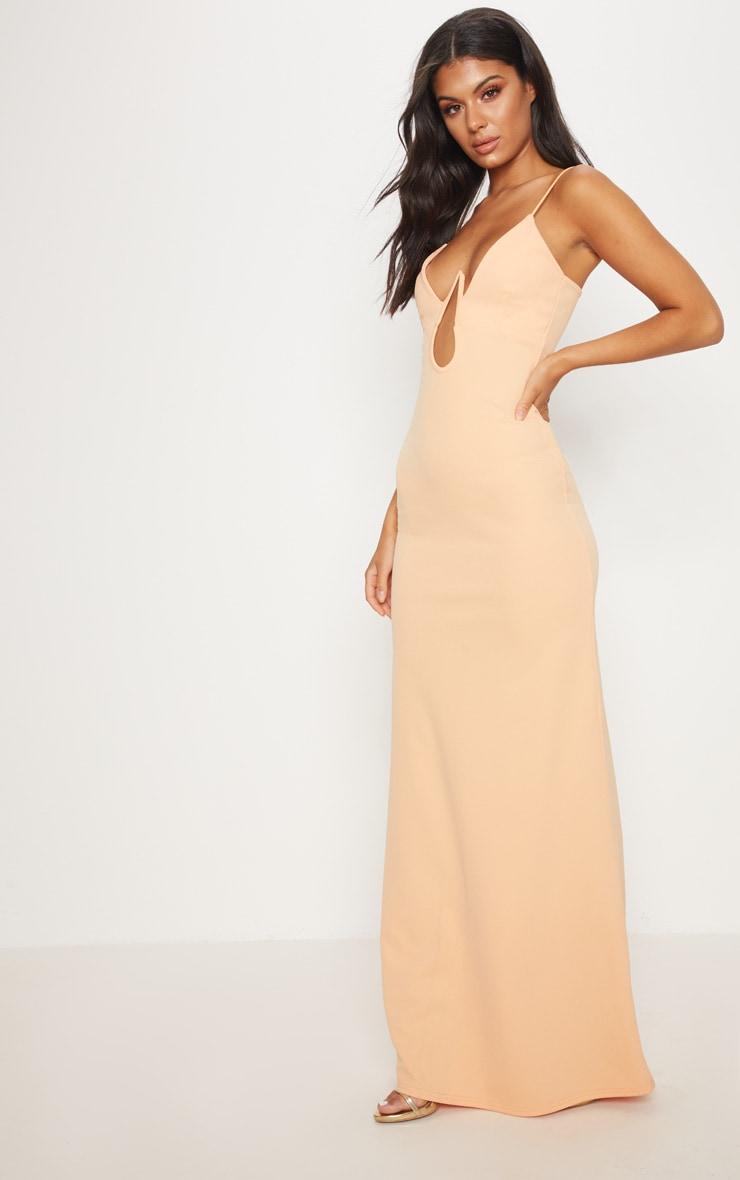 Tangerine V Bar Maxi Dress  4
