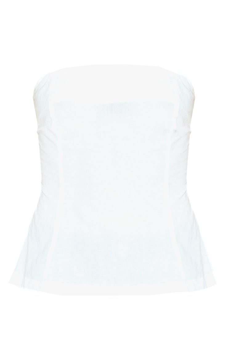 White Bandeau Tie Back Top 3