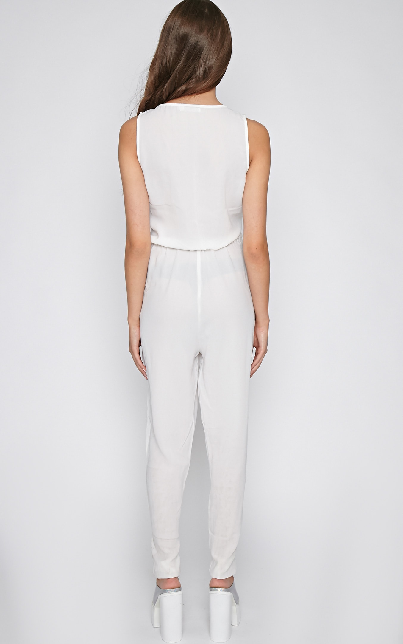 Suki White Off-Duty Jumpsuit 2