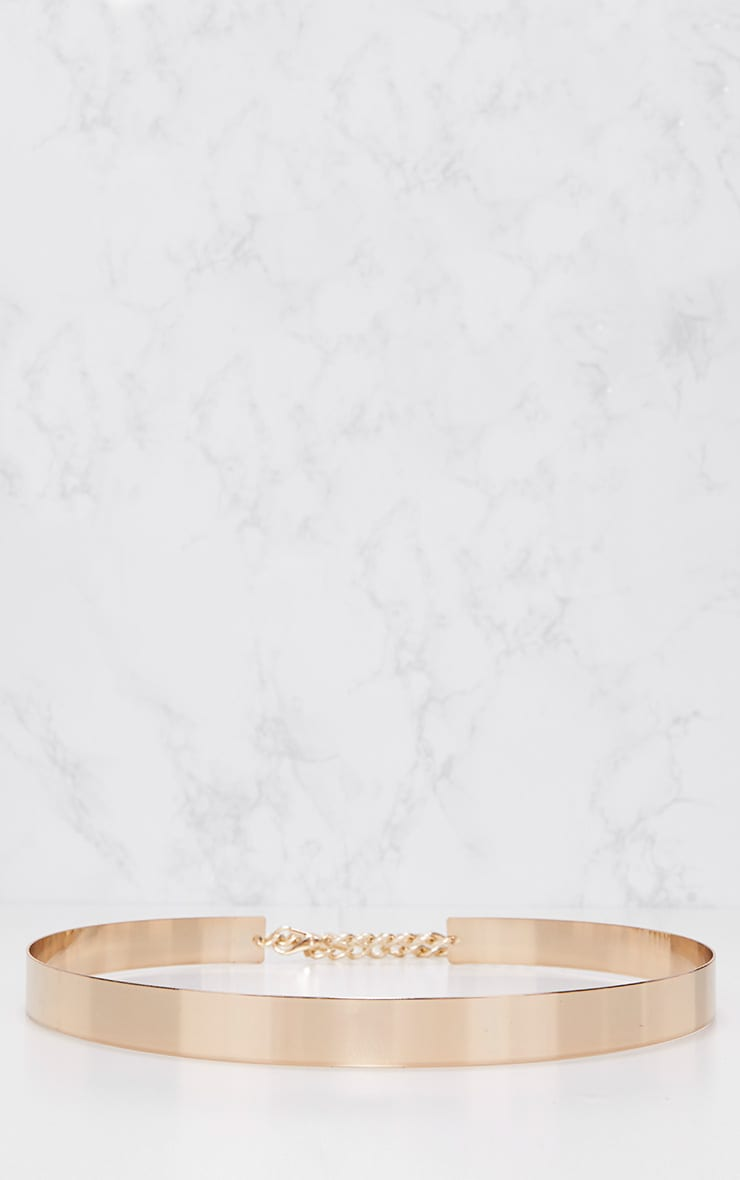 Gold Thin Metal Plated Belt 4