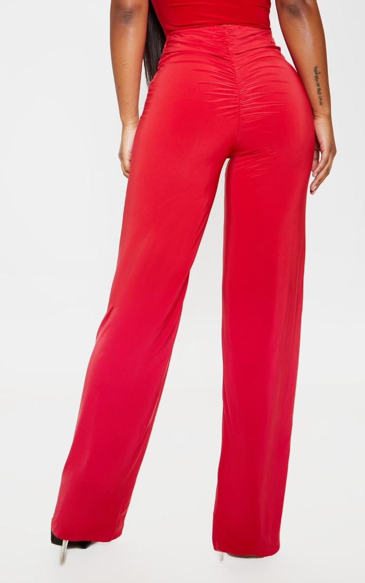 Pantalon ample slinky rouge intense 4