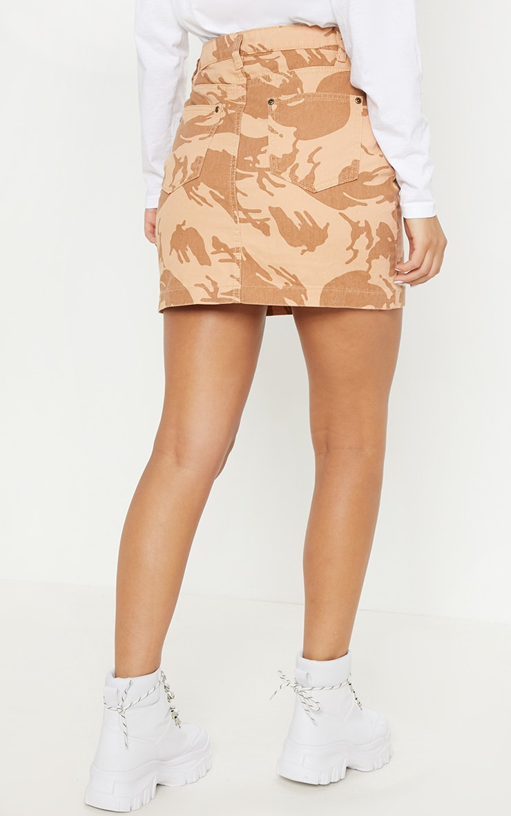 Stone Camo Denim Skirt  4